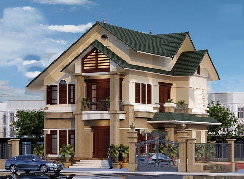Căn biệt thự có cấu trúc là khối vuông khỏe khoắn