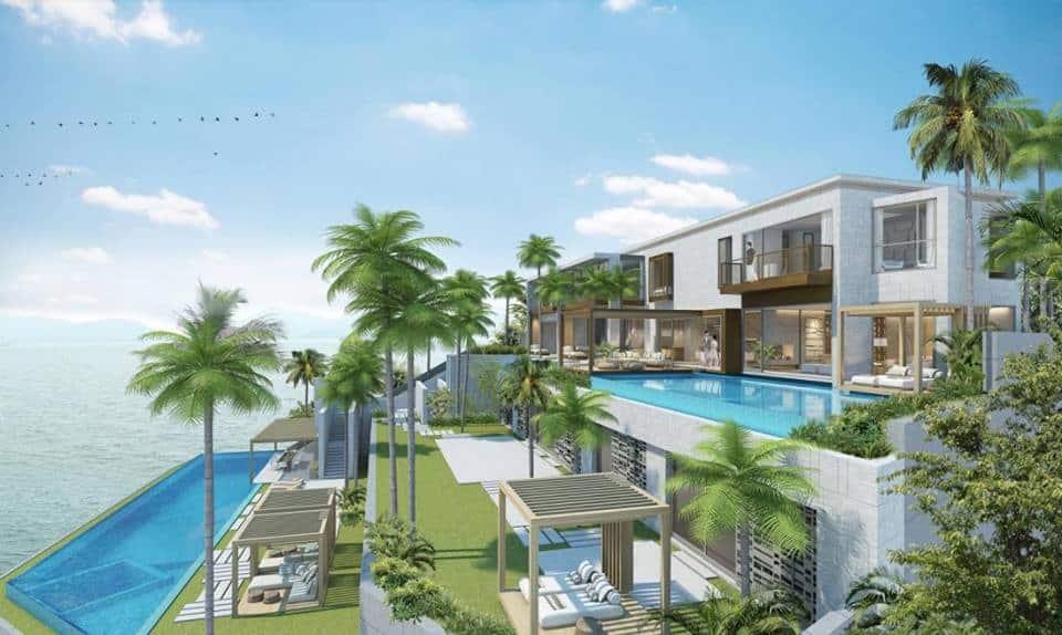 Không gian biệt thự 2 tầng với bể bơi sang trọng ấn tượng