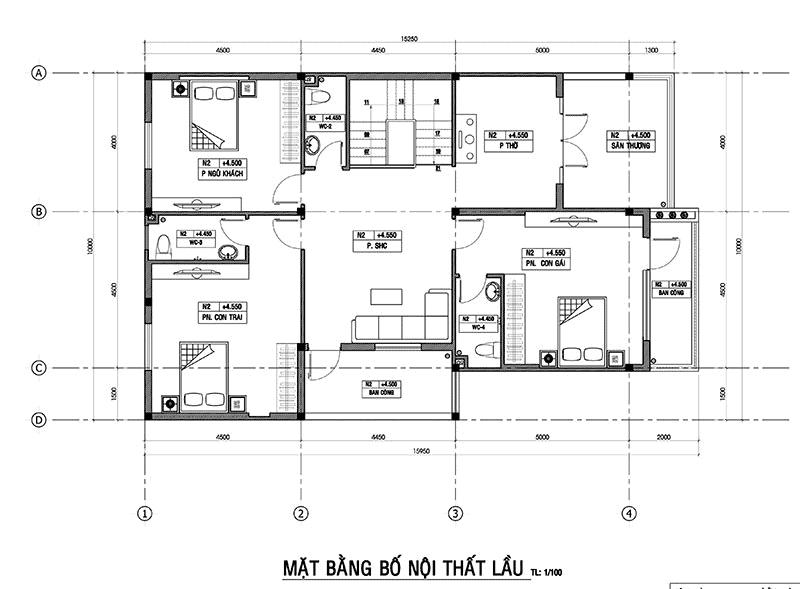 biệt thự 2 tầng có gara