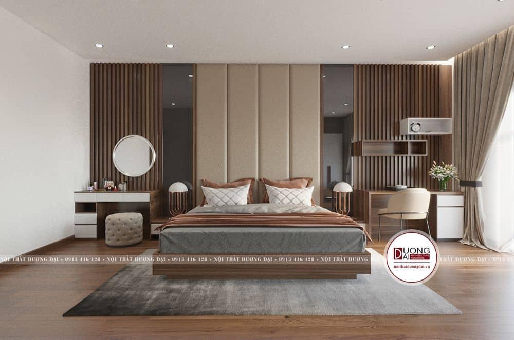 Không gian phòng ngủ master trầm ấm