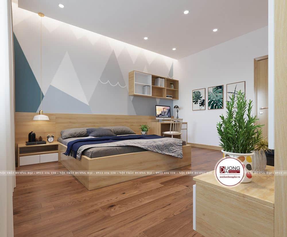 Thiết kế phòng ngủ với nội thất cơ bản, tối ưu diện tích