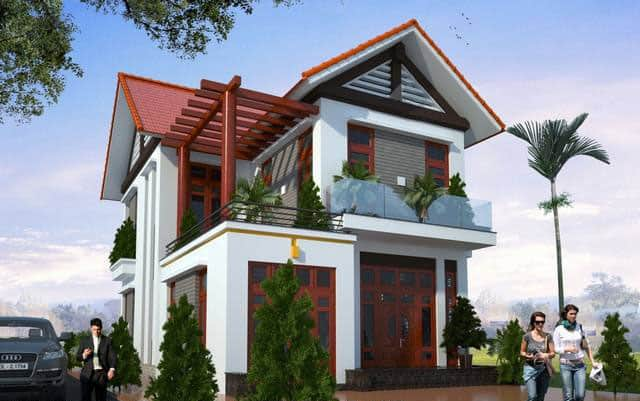 Phong cách đơn giản với hệ thống mái Thái tạo điểm nhấn