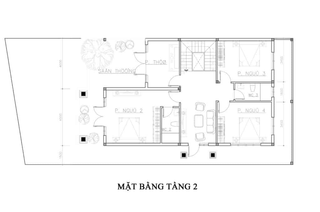 Biệt Thự 2 Tầng Hiện Đại Diện Tích 70m2 Mẫu Hot 2020