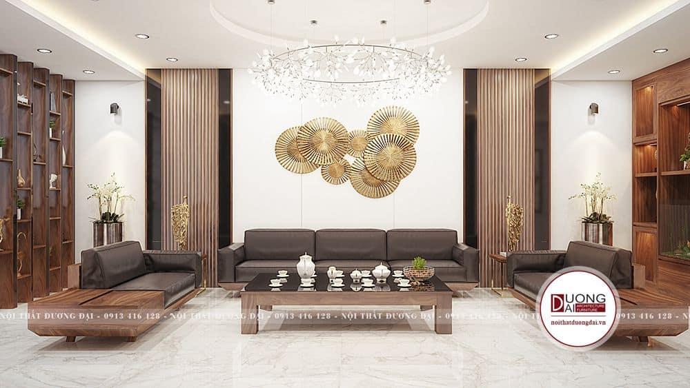 Thiết kế nội thất phòng khách với không gian đẹp mắt và thoáng đãng