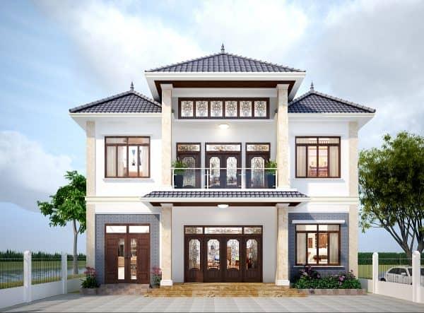 Mái Thái sang trọng tăng sự ấn tượng cho ngôi biệt thự