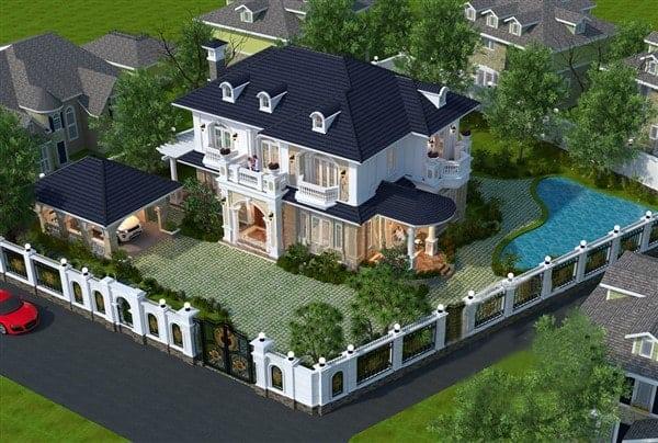 Không gian siêu đẳng cấp và đồ sộ của biệt thự vườn 2 mặt tiền có bể bơi