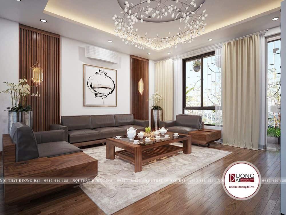 Không gian đẹp với ánh sáng ấn tượng, gỗ veneer sang trọng