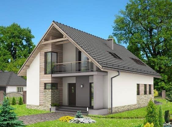 nhà 2 tầng nông thôn