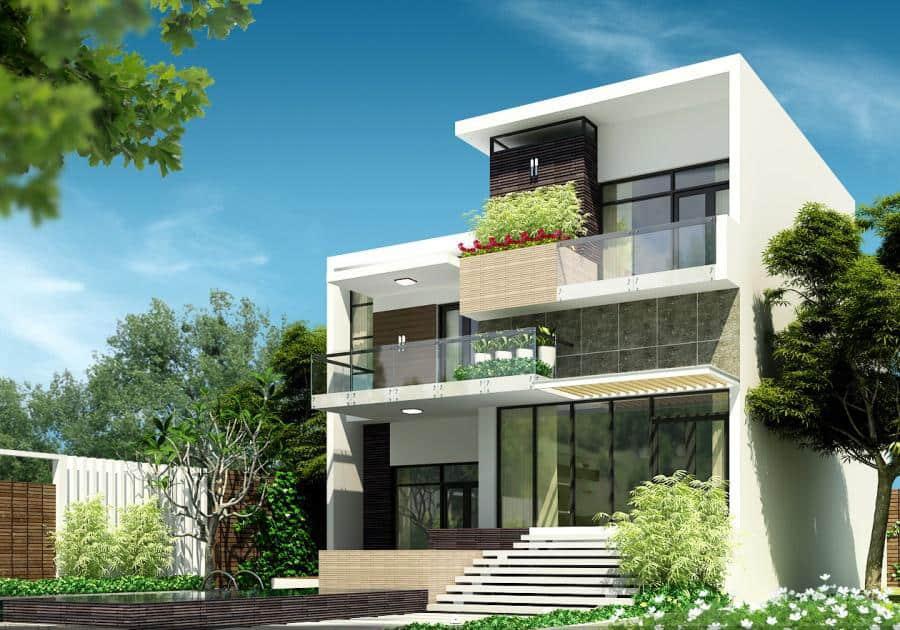 Hệ thống mái bằng rất được ưa chuộng khi thiết kế biệt thự phố