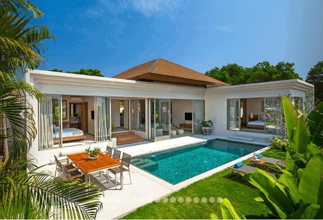 Không gian biệt thự có sân vườn kết hợp với bể bơi