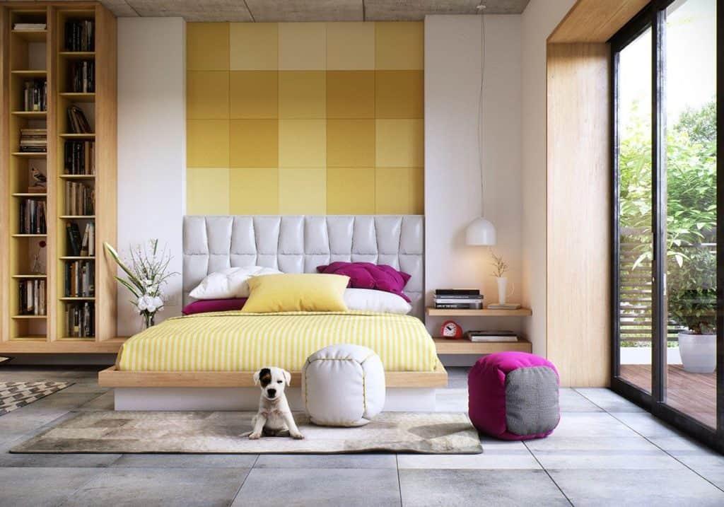 Phòng ngủ của cậu con trai thiết kế tông màu ghi trung tính đầy cá tính