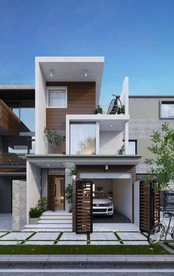 nhà phố thiết kế đẹp, màu sắc tinh tế