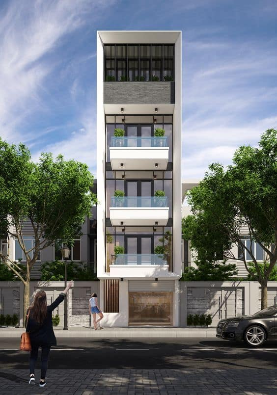 mẫu nhà phố đẹp, chi phí xây dựng thấp