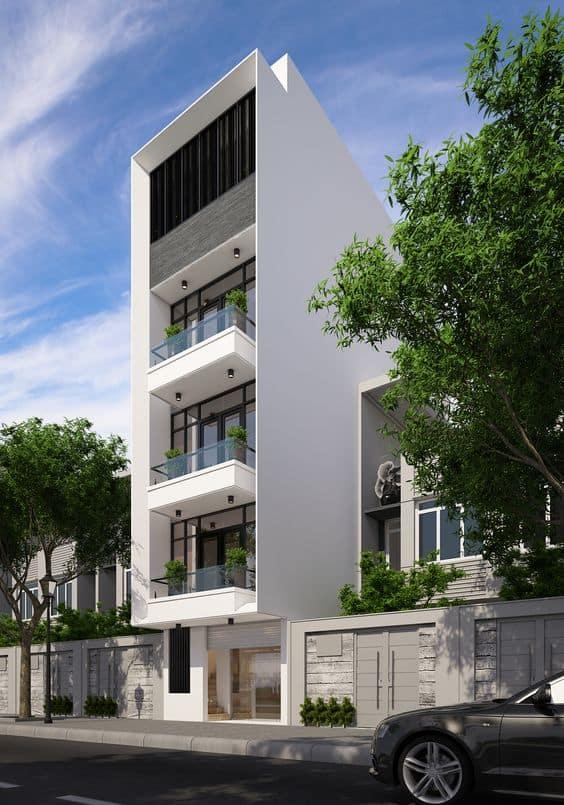 Mẫu Nhà 4 Tầng Đẹp 2020 | 20+ Mẫu Nhà 4 Tầng Đón Đầu Xu Hướng