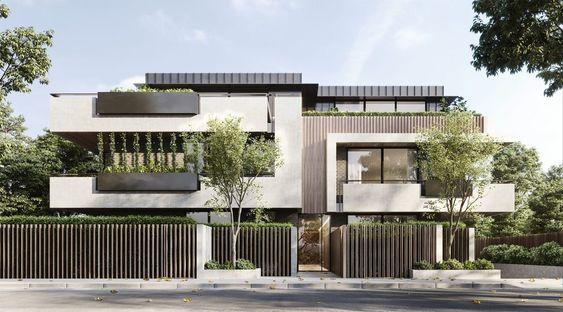 Mẫu nhà biệt thự 2 tầng mái bằng với kiến trúc nhẹ nhàng, đơn giản
