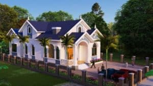 Nhà Mái Thái 1.5 tầng | Giải Pháp Xây Dựng Nhà Đẹp, Tiết Kiệm