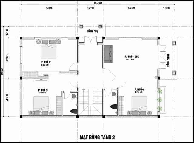 Nhà Mái Thái 2 Mặt Tiền, Tư Vấn Trọn Gói Nội Ngoại Thất