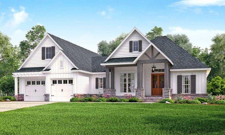 Thiết kế mẫu nhà đẹp với 2 phòng ngủ kết hợp sân vườn xanh mát
