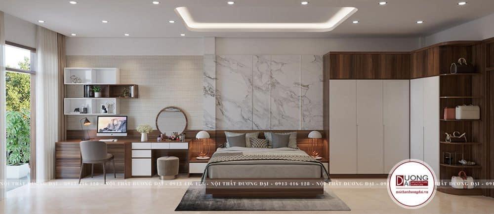 Thiết kế phòng ngủ thoáng rộng được lòng nhiều gia chủ