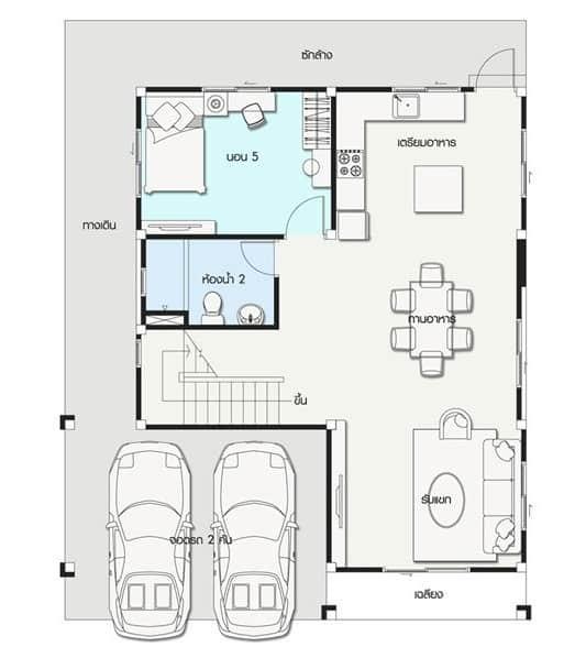 Nhà Mái Thái 2 Tầng 5 Phòng Ngủ Đơn Giản Mà Đẹp Không Ngờ