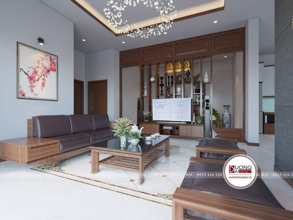Thiết kế không gian phòng khách thoáng đãng và sang trọng