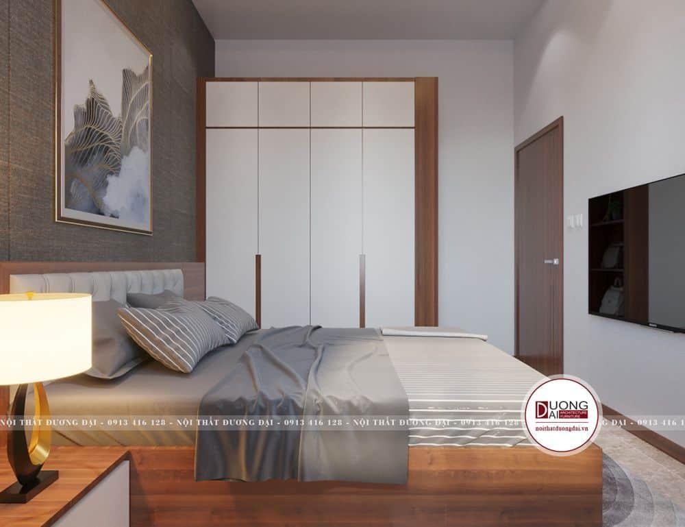 Thiết kế nội thất phòng ngủ master nhẹ nhàng, ấm áp