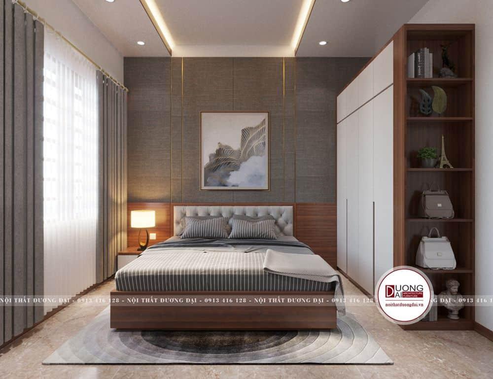 Thiết kế nội thất phòng ngủ với chất liệu gỗ an cường chính hãng