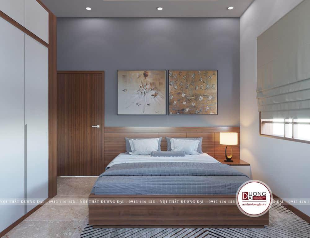 Thiết kế phòng ngủ phụ tuy đơn giản nhưng ấm áp