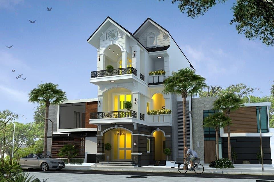 Ý tưởng thiết kế nhà phố mái thái 3 tầng ấn tượng