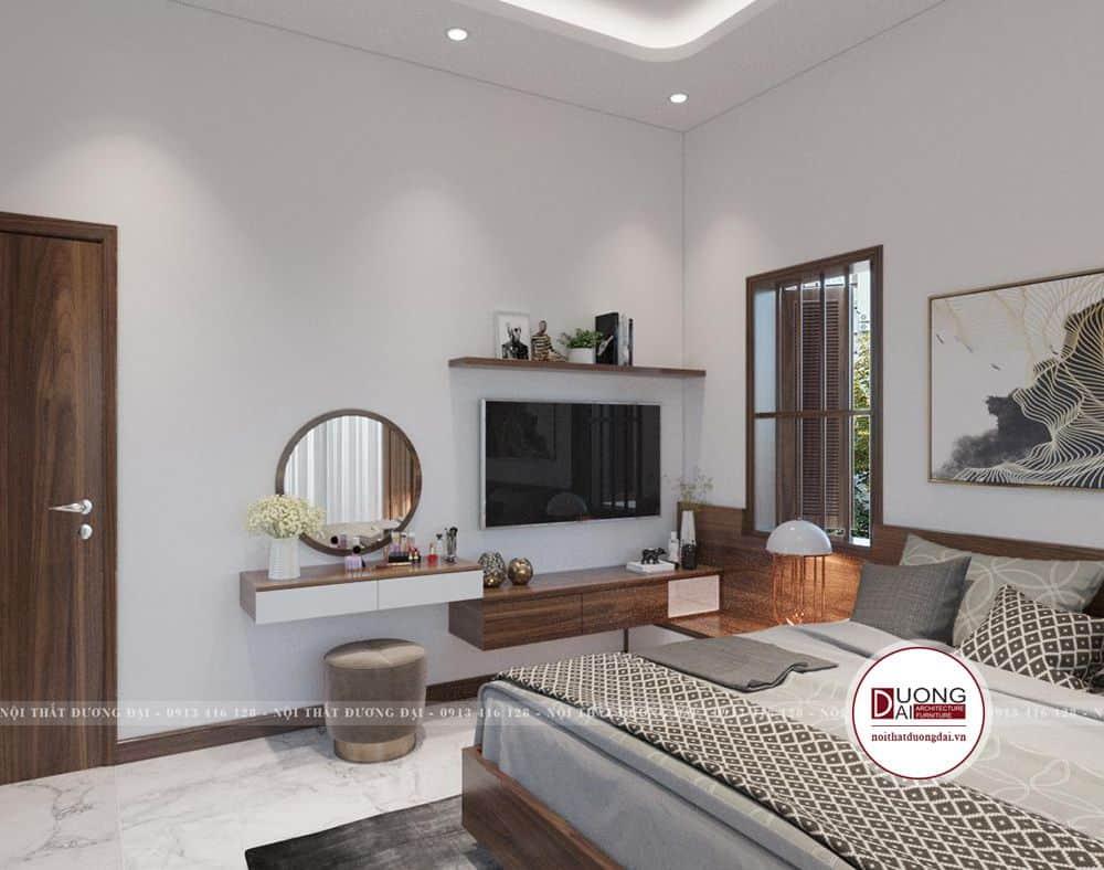 Không gian phòng ngủ ấm áp với sự bài trí gọn gàng và màu sắc phù hợp