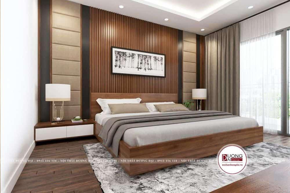Thiết kế nội thất phòng ngủ master tone trầm ấm áp