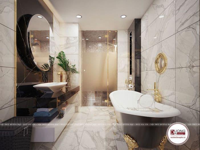mẫu nhà tắm kết hợp nhà vệ sinh sang trọng
