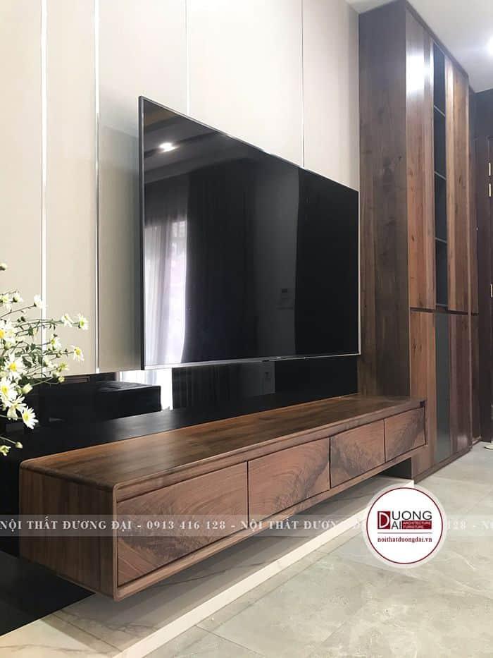 Kệ tivi bằng gỗ óc chó sang trọng