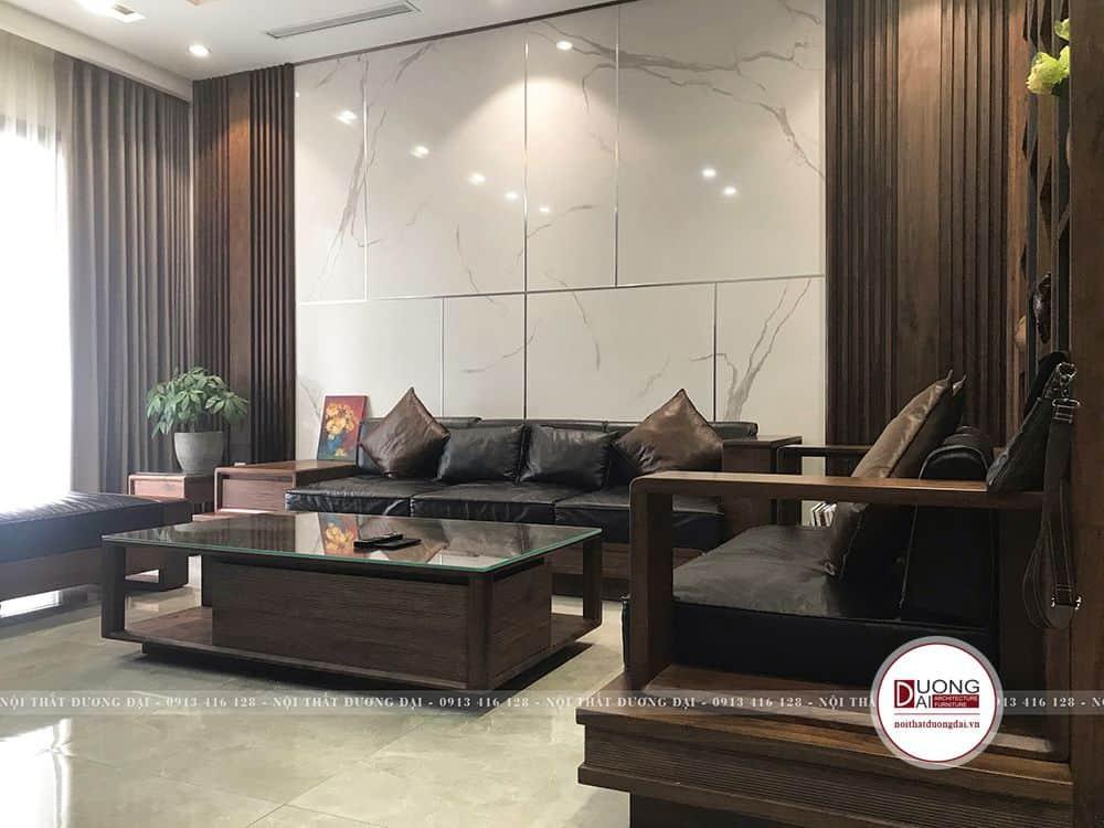 Bộ sofa mang nét hiện đại và truyền thống Việt