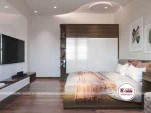 Thiết kế tủ quần áo cao cấp bằng gỗ MFC An Cường