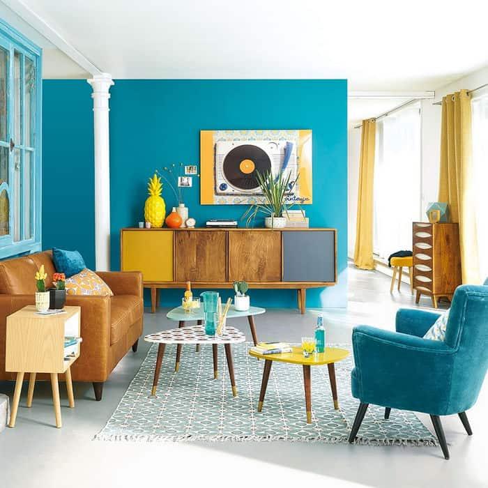 Phong cách nội thất Retro sử dụng tối đa nguồn sáng tự nhiên