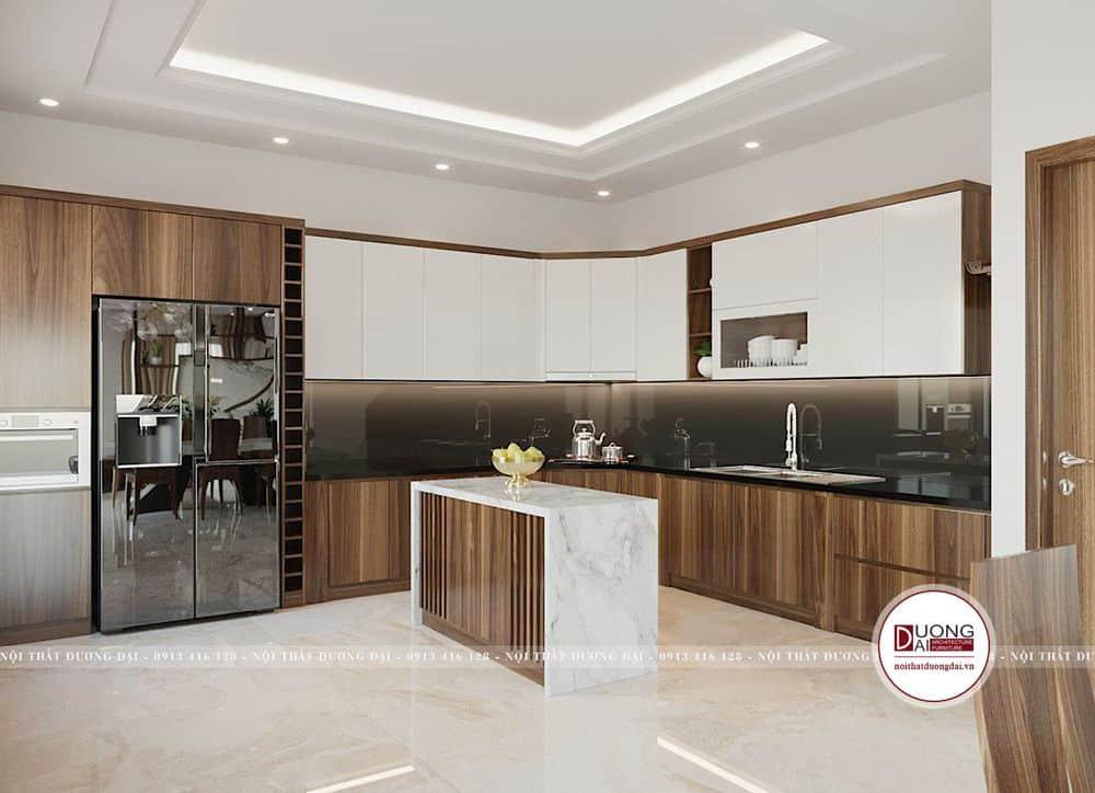 Thiết kế tủ bếp sang trọng và thông minh