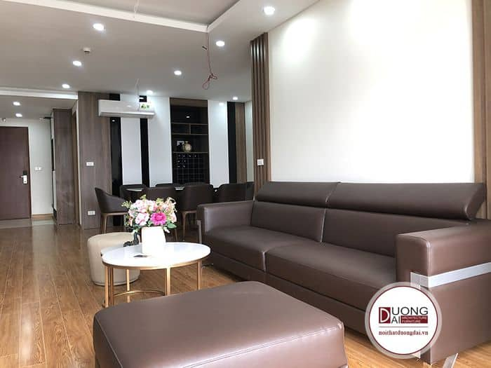 Sofa Màu Cafe |Bàn Giao Sofa Cho Chị Minh Thống Nhất Complex