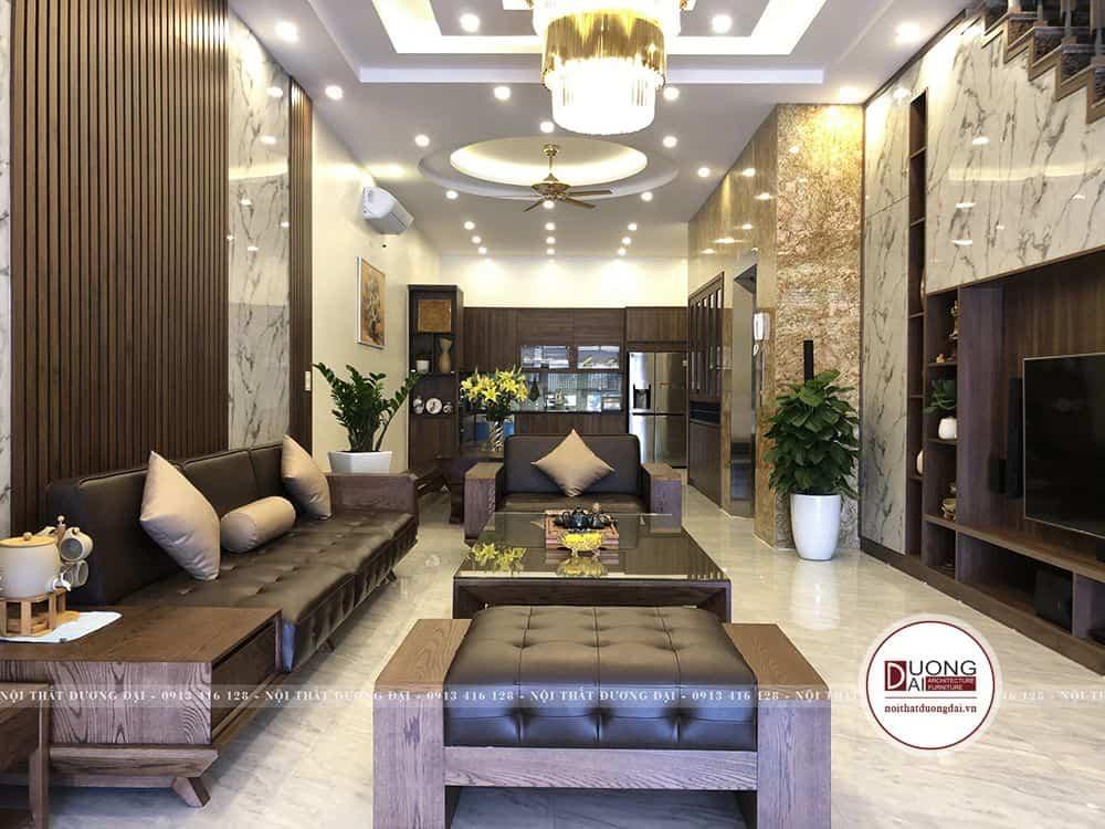 Phòng khách sang trọng với ánh sáng chan hòa