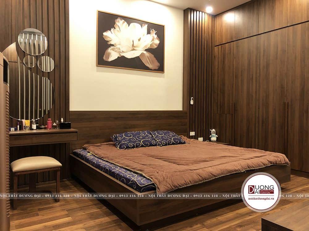 Nội thất phòng ngủ rất sang trọng và ấm áp