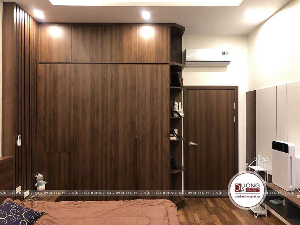 Tủ quần áo 4 cánh được làm từ gỗ MFC An Cường