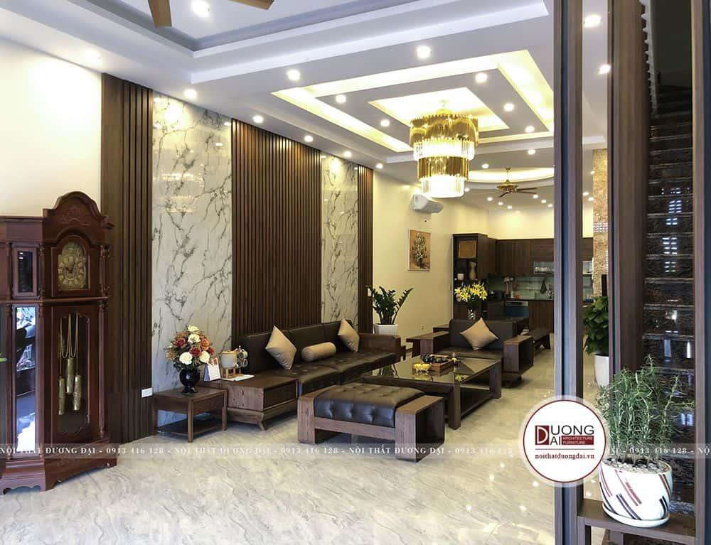 Phòng khách có vẻ đẹp hiện đại và sang trọng