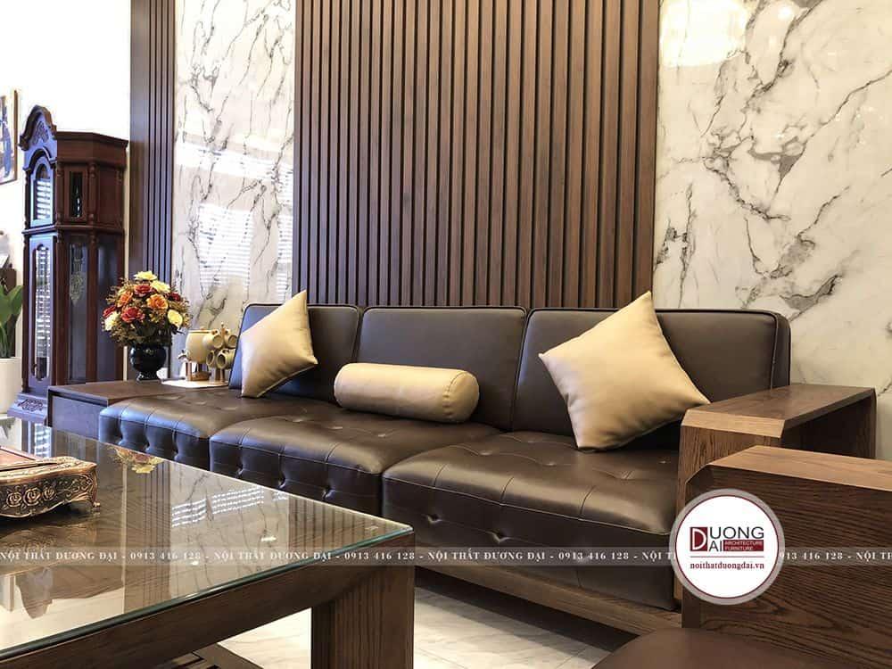 Bộ sofa xếp hình chữ U uy nghi và bề thế