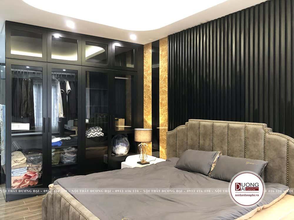 Thiết kế giường ngủ phong cách châu Âu xa hoa