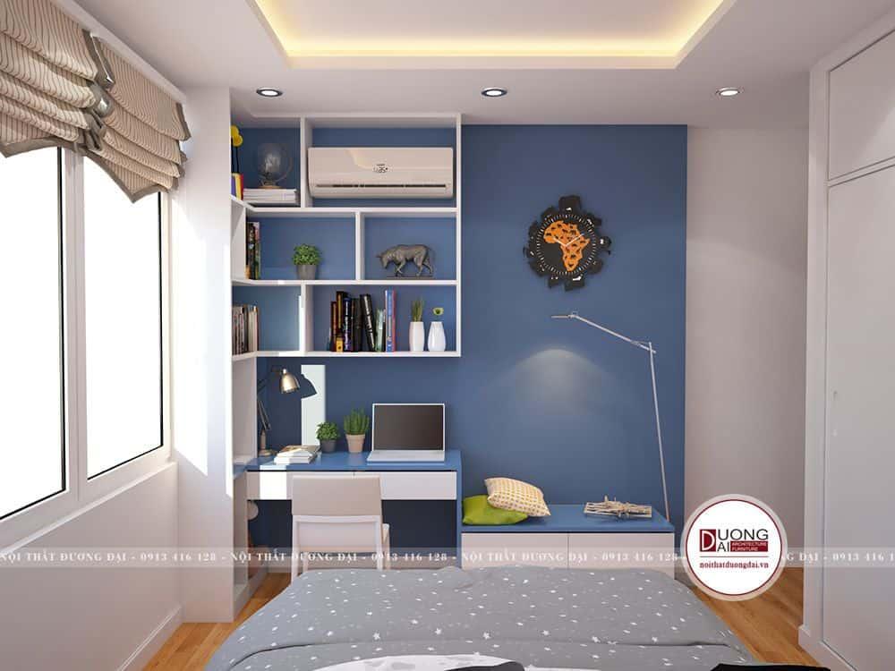Thiết kế phòng ngủ con trai đáng yêu