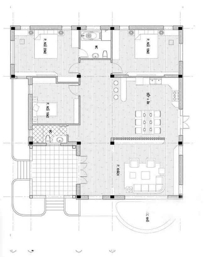 thiết kế biệt thự nhà vườn trên đất 2000m2