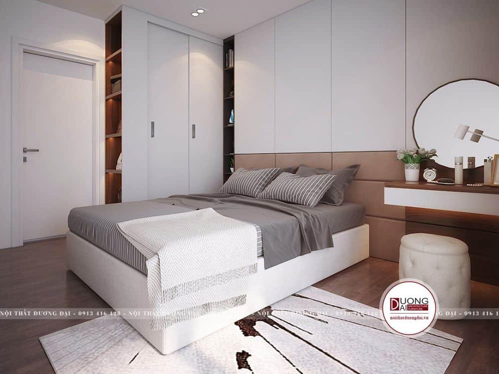 Phòng ngủ trang nhã và sang trọng với nội thất màu trắng