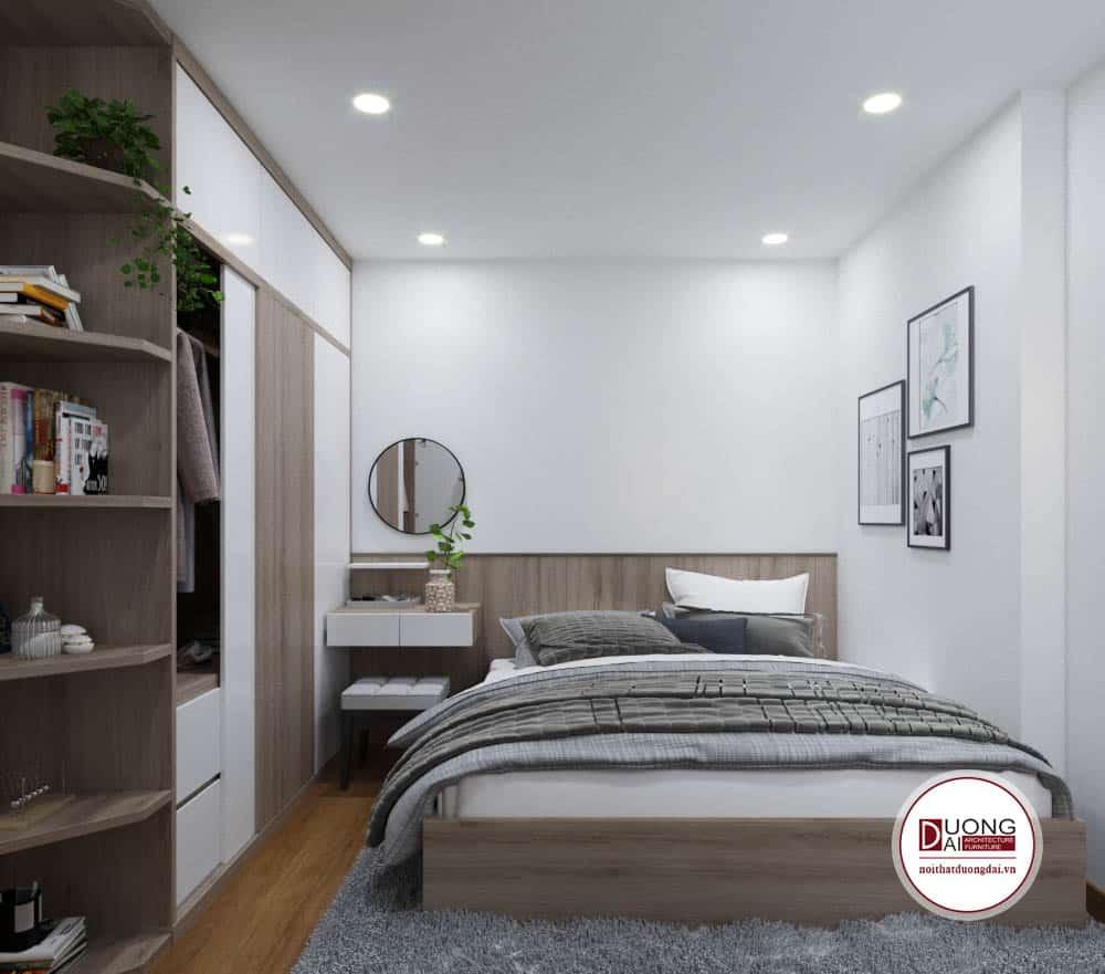 Phòng ngủ trang nhã và gần gũi với nội thất tiện nghi