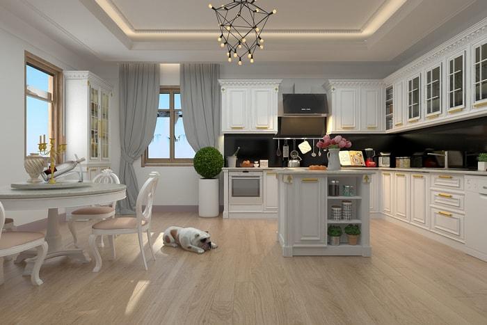 Thiết kế nội thất chung cư tân cổ điển đẹp sang trọng
