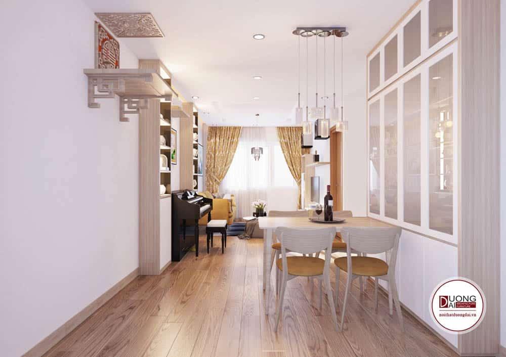 Thiết kế chung cư phong cách tối giản tiện nghi